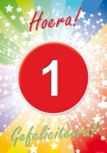 1 jaar verjaardag poster (bron: Oranjediscounter)