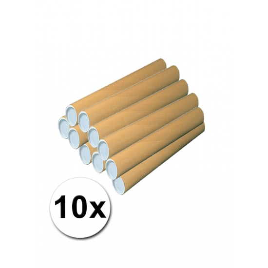 10 kartonnen knutsel kokers 50 cm