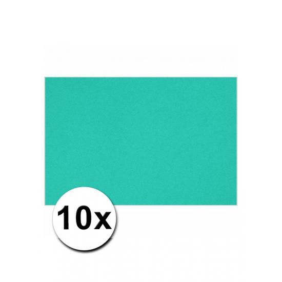 10 oceaan blauwe kartonnen vellen A4 (bron: Oranjediscounter)