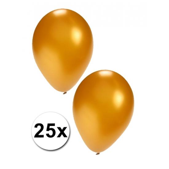 25 stuks gouden ballonnen (bron: Oranjediscounter)