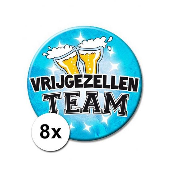 8 XXL speldjes blauw Vrijgezellen Team