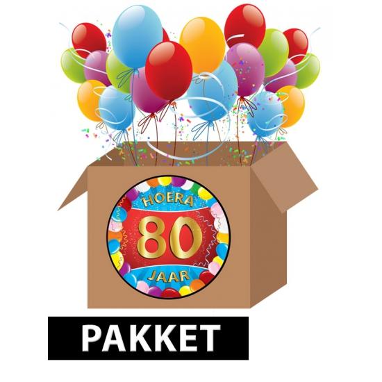 80 jaar feestartikelen pakket
