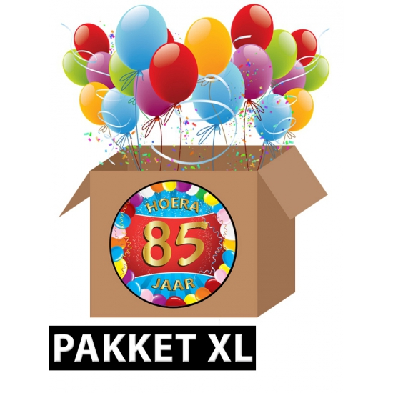85 jaar feestartikelen pakket XL