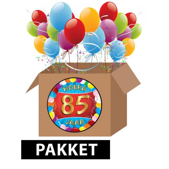 85 jaar feestartikelen pakket