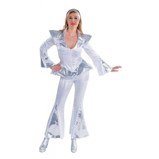 Abba Dancing queen kostuum dames (bron: Oranjediscounter)
