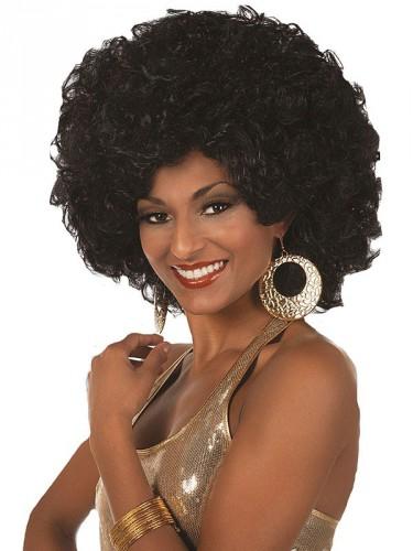 Afro pruik voor dames zwart (bron: Oranjediscounter)
