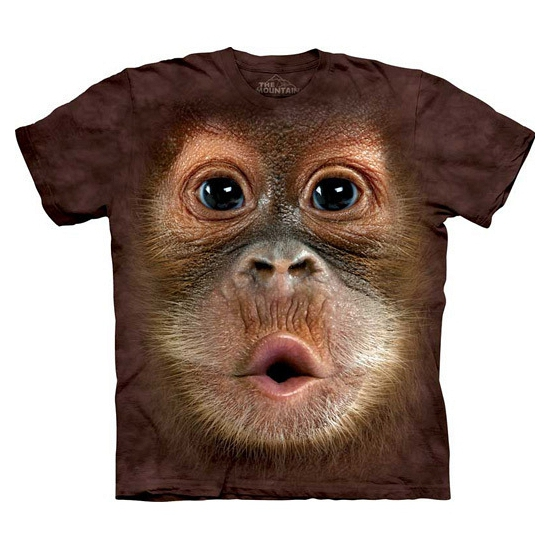 All-over print kids t-shirt Orang Oetang (bron: Oranjediscounter)