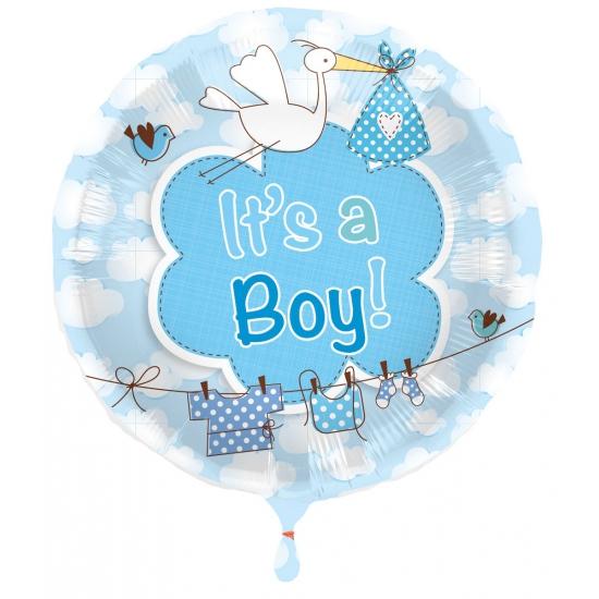 Ballon jongen geboren Its a Boy (bron: Oranjediscounter)
