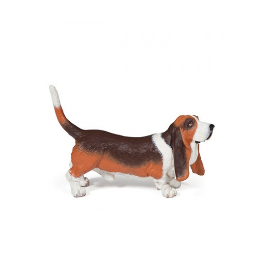 Basset hond speeldiertje 2,5 cm (bron: Oranjediscounter)
