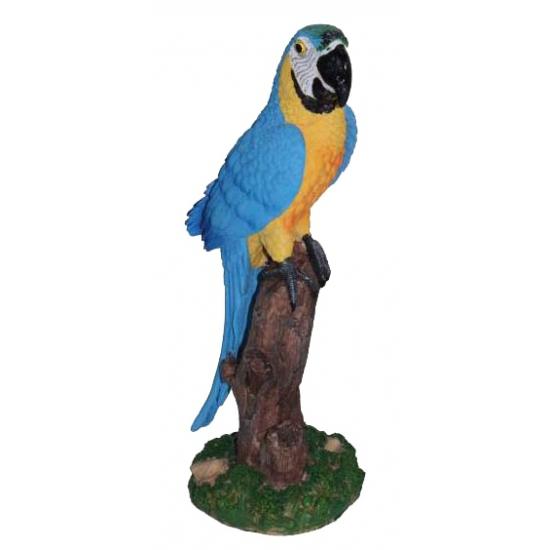Blauwe decoratie papegaai 32 cm (bron: Oranjediscounter)