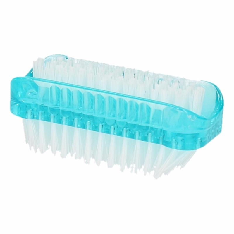 Blauwe nagelborstel