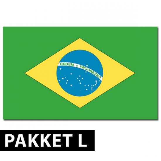 Brazilie versiering pakket groot (bron: Oranjediscounter)