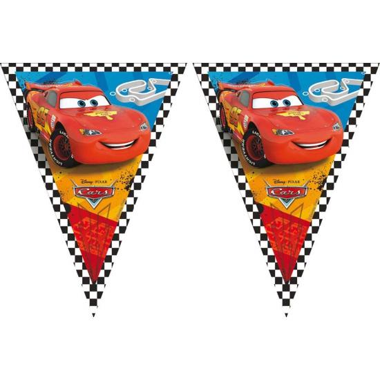 Cars vlaggenlijn 3 meter. deze plastic vlaggenlijn met plaatjes uit de bekende disney film cars heeft een ...
