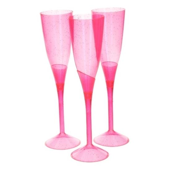 Champagne flutes blauw 5 stuks (bron: Oranjediscounter)