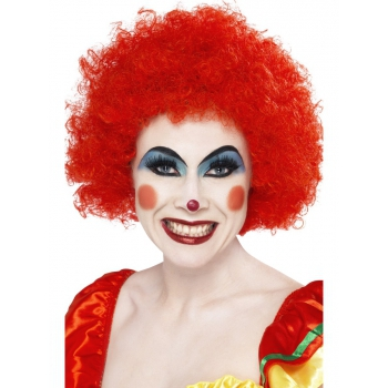 Crazy clown wig rode afro (bron: Oranjediscounter)