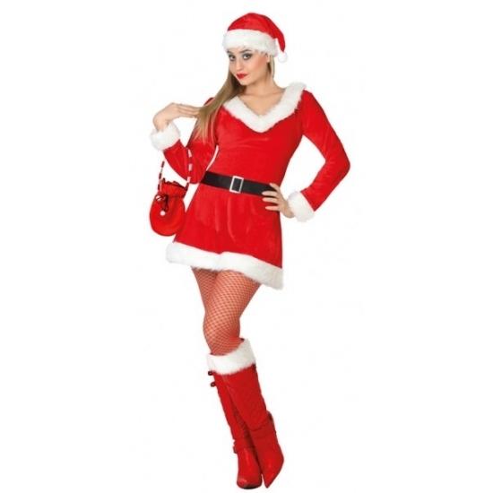 Dames kerstkleding jurkje met V-hals (bron: Oranjediscounter)