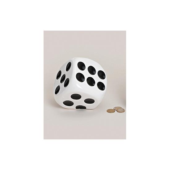 Dobbelstenen spaarpotten wit (bron: Oranjediscounter)