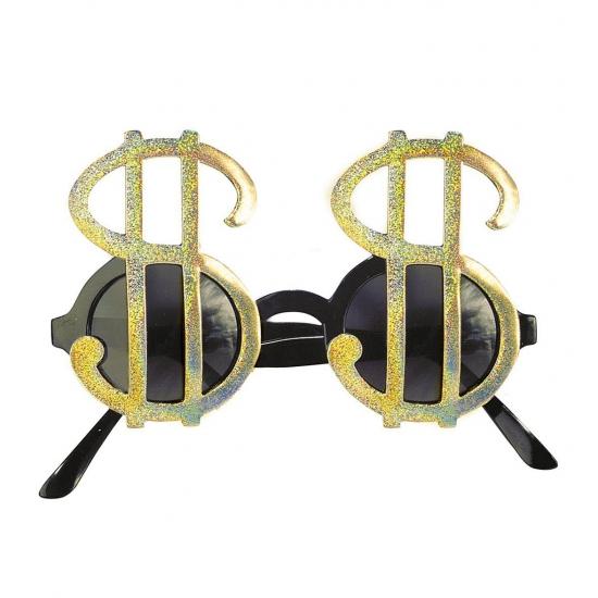 Dollar brillen goud (bron: Oranjediscounter)