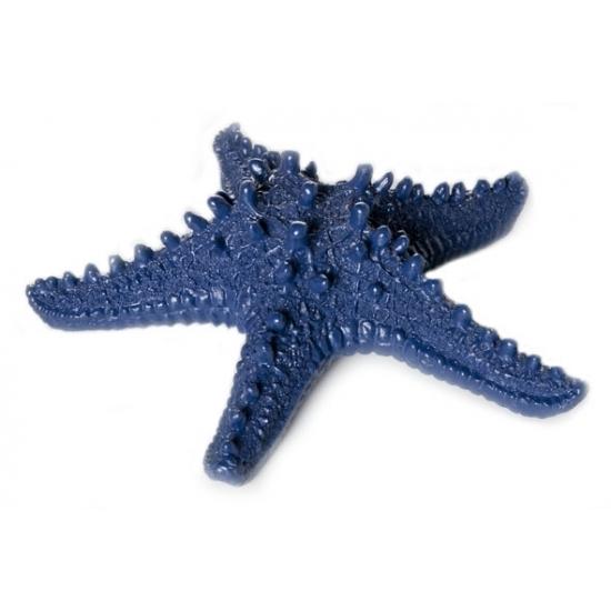 Donkerblauwe zeesterren decoratie 16x4x15cm