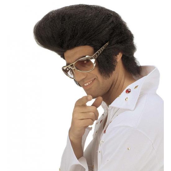 Elvis pruiken zwart