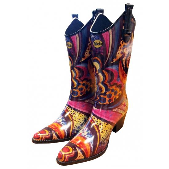 Festival cowboy laarzen bloemenprint (bron: Oranjediscounter)