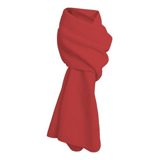 Fleece winter sjaal rood (bron: Oranjediscounter)
