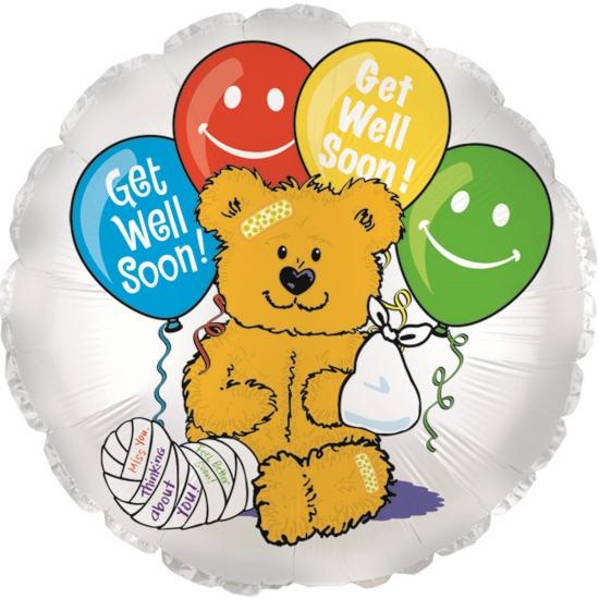 Folie ballonnen beterschap beer