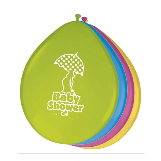 Gekleurde babyshower ballonnen (bron: Oranjediscounter)