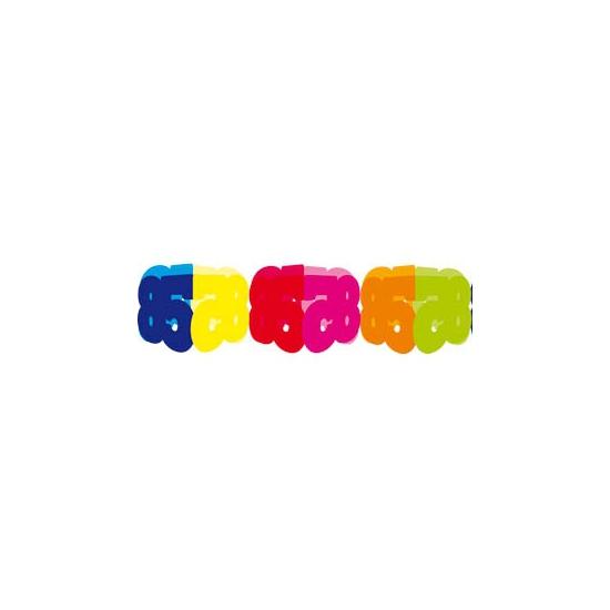 Gekleurde papieren slinger 85 jaar