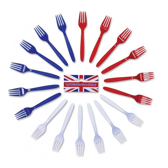 Gekleurde vorken 18 stuks