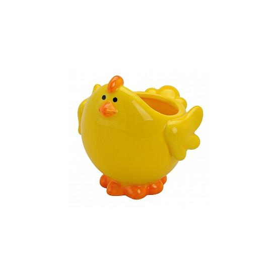Gele kip schaal voor paaseieren (bron: Oranjediscounter)