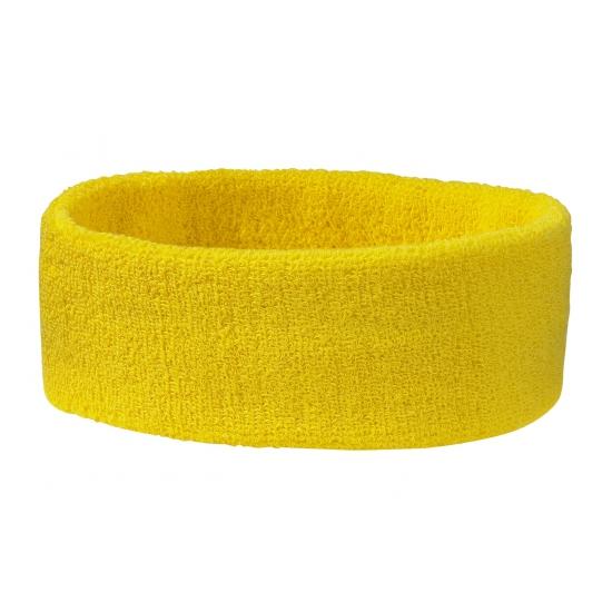 Goudgele hoofd zweetband (bron: Oranjediscounter)