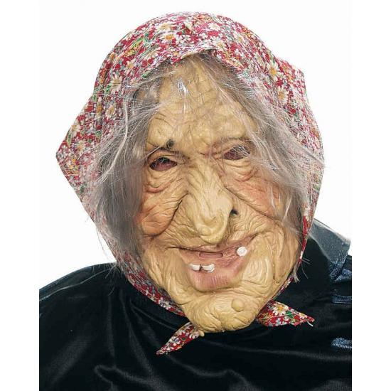Griezelige oude vrouw masker