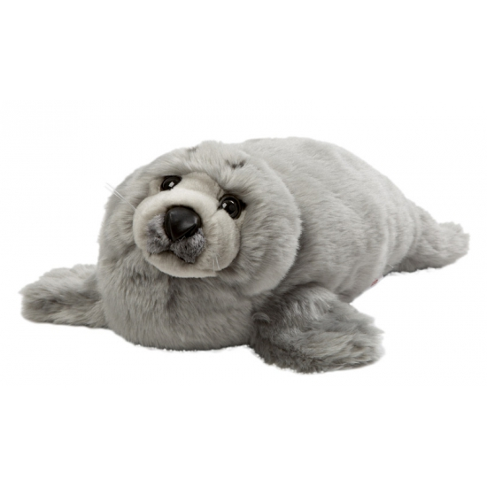 Grijze knuffel zeehond 40 cm (bron: Oranjediscounter)