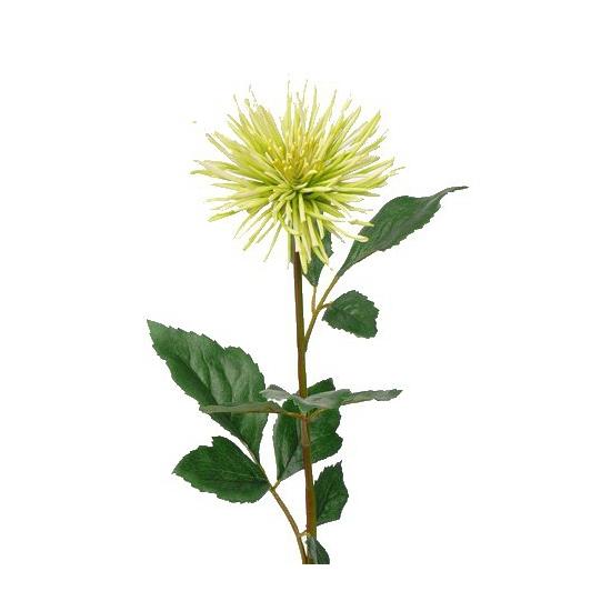 Groene Chrysant kunstbloem 71 cm