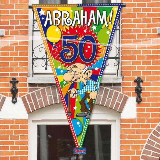 Grote Abraham 50 jaar vlag (bron: Oranjediscounter)