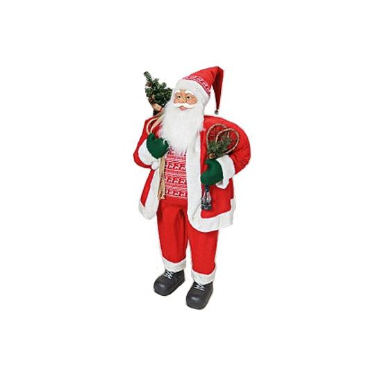 Grote Kerstman decoratie pop 122 cm