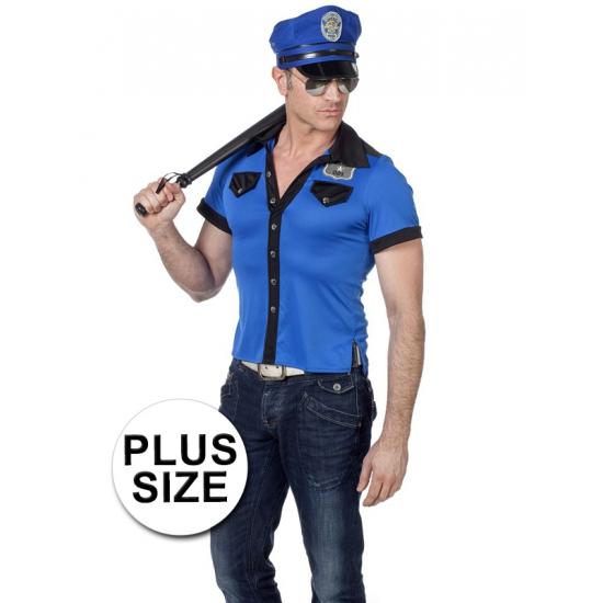 Grote maat politie overhemd heren (bron: Oranjediscounter)