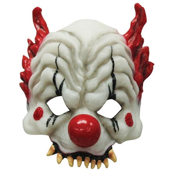 Half gezichtsmasker horror clown (bron: Oranjediscounter)