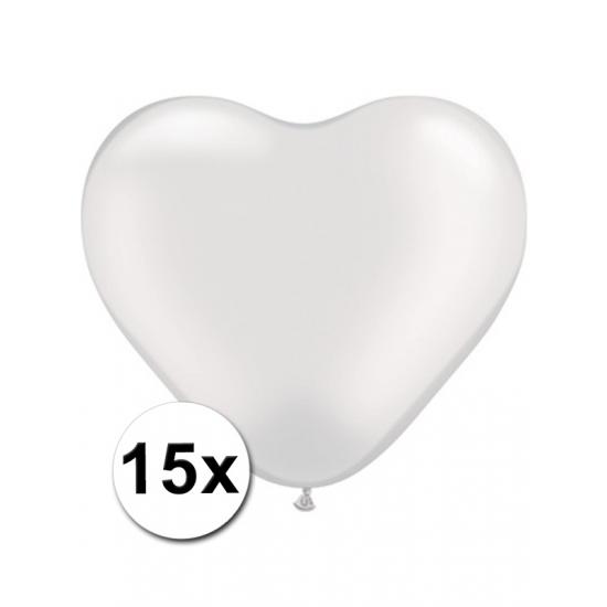 Hart ballonnen wit 15 stuks (bron: Oranjediscounter)