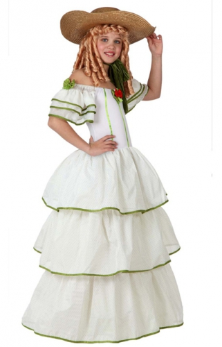 Historische meisjes jurk (bron: Oranjediscounter)