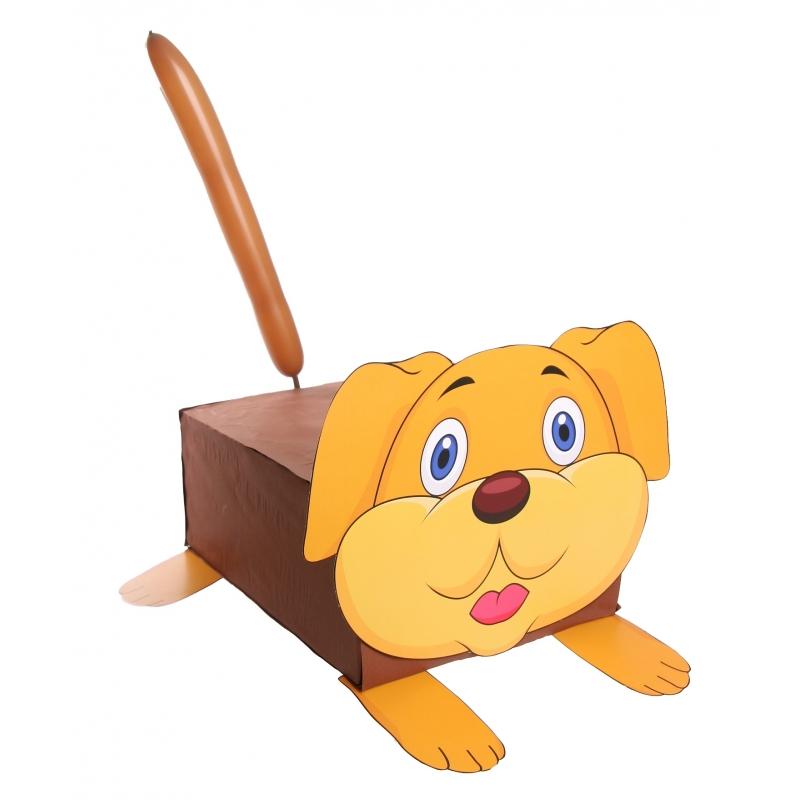 Hond suprise knutselen DIY pakket (bron: Oranjediscounter)