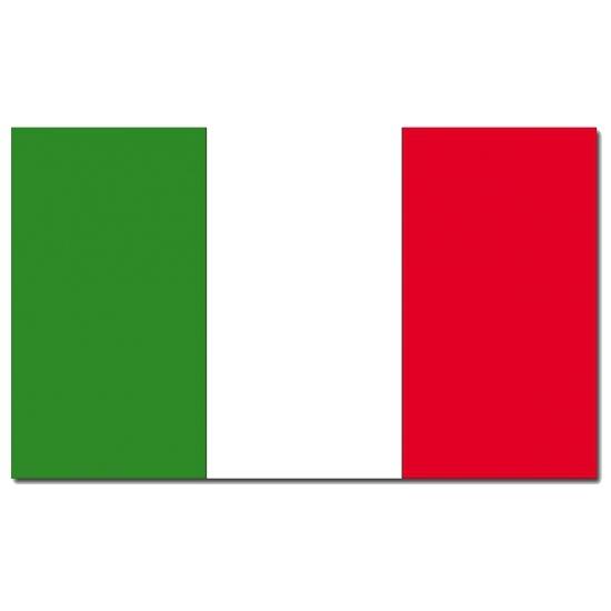 Italiaanse vlag 90 x 150 cm (bron: Oranjediscounter)