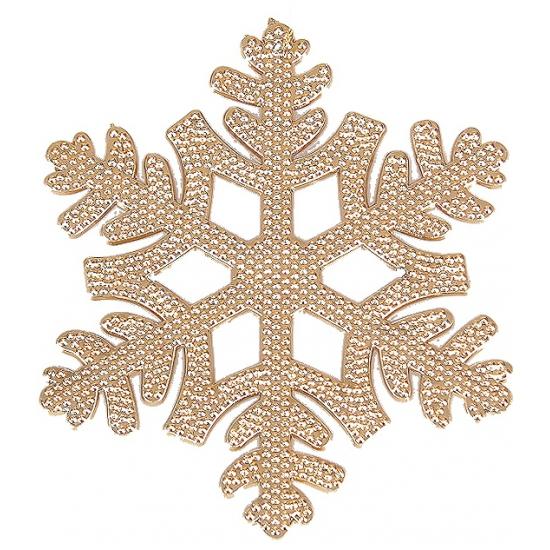 Kerstboom hanger sneeuwvlok koper (bron: Oranjediscounter)
