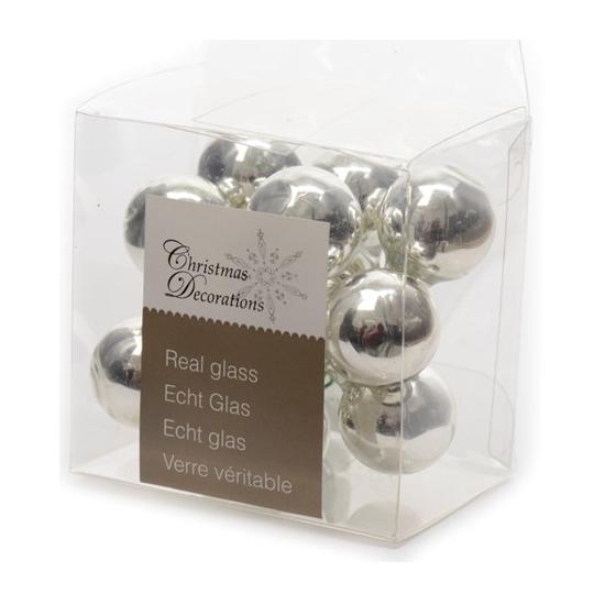 Kerststukje zilveren balletjes 10 stuks (bron: Oranjediscounter)