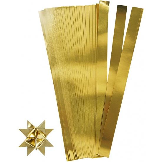 Knutselmateriaal papierstroken goud 73 cm