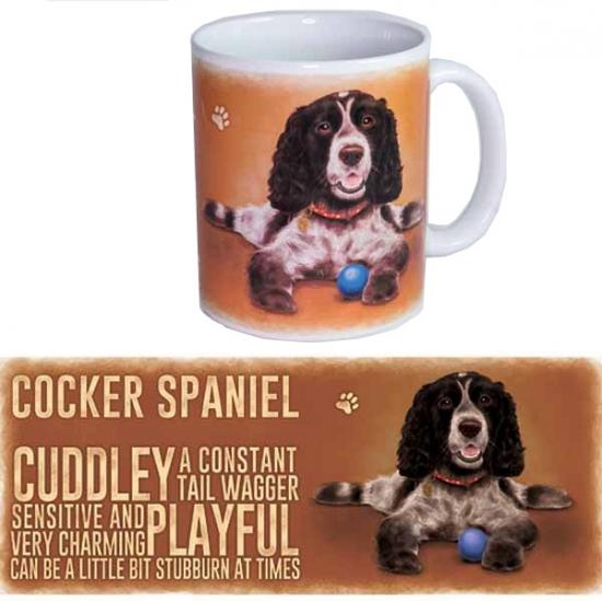 Koffie beker Cockerspaniel hond (bron: Oranjediscounter)