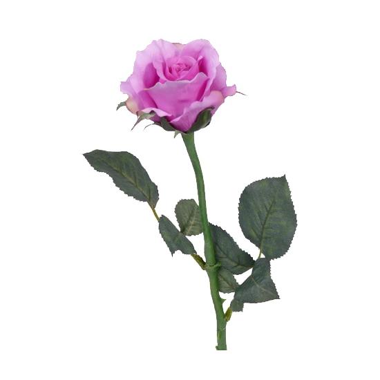 Kunst roos paars 58 cm