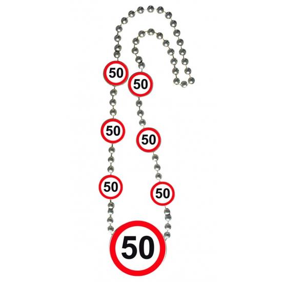 Ketting 50 jaar verkeersborden. deze ketting met 50 jaar verkeersborden heeft een lengte van ongeveer 42 cm. ...