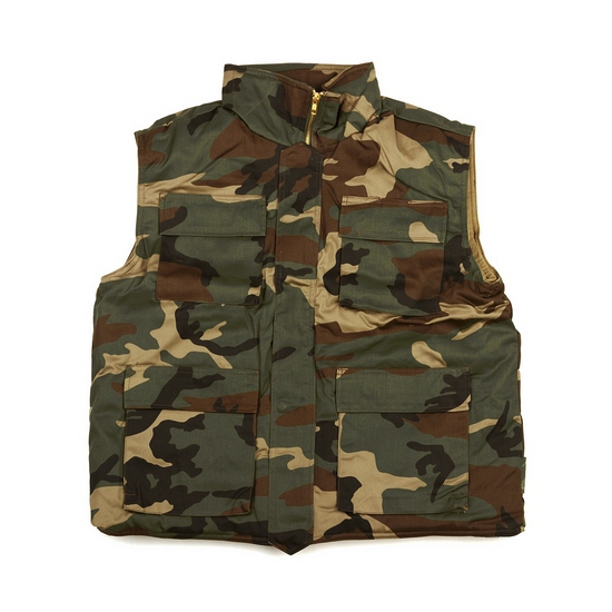 Leger bodywarmer met camouflage print